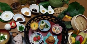 photo of lunch served at vegan workshop in Nara.